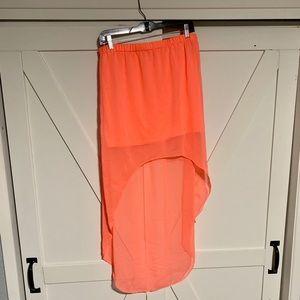 Women's neon Express high low skirt